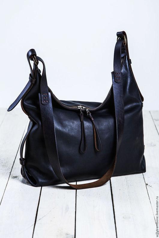 Женские сумки ручной работы. Ярмарка Мастеров - ручная работа. Купить Hobo bag. Handmade. Черный, сумки женские интернет