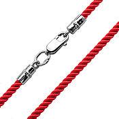 Украшения handmade. Livemaster - original item Red silk Lace2,5 mm thickness. Handmade.