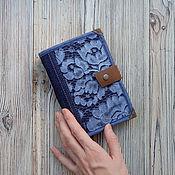 Блокноты ручной работы. Ярмарка Мастеров - ручная работа Блокнот софтбук А6 Сумеречные цветы. Handmade.