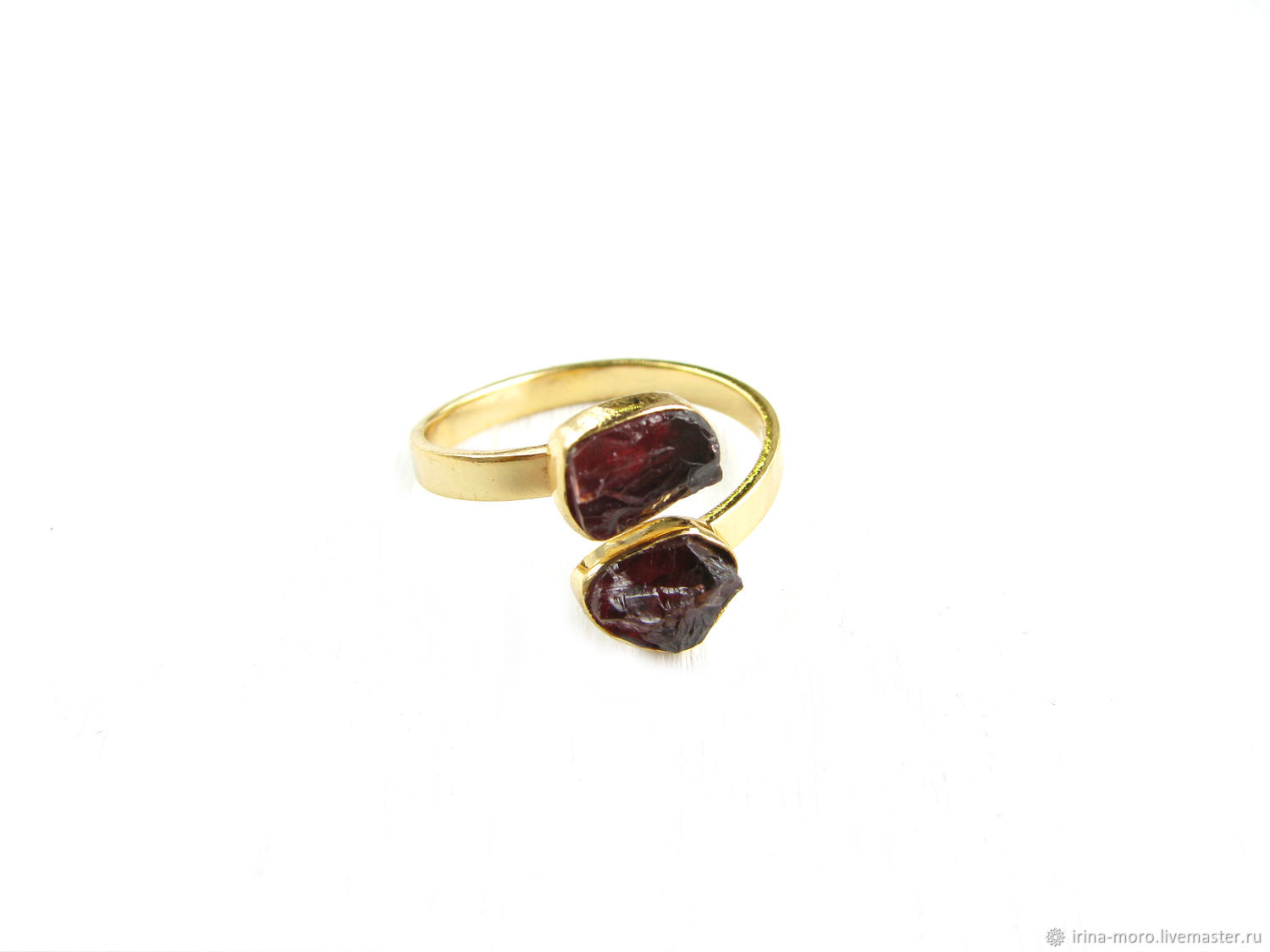 Gold ring with garnet 'Bordeaux' ring with grenades, Rings, Moscow,  Фото №1