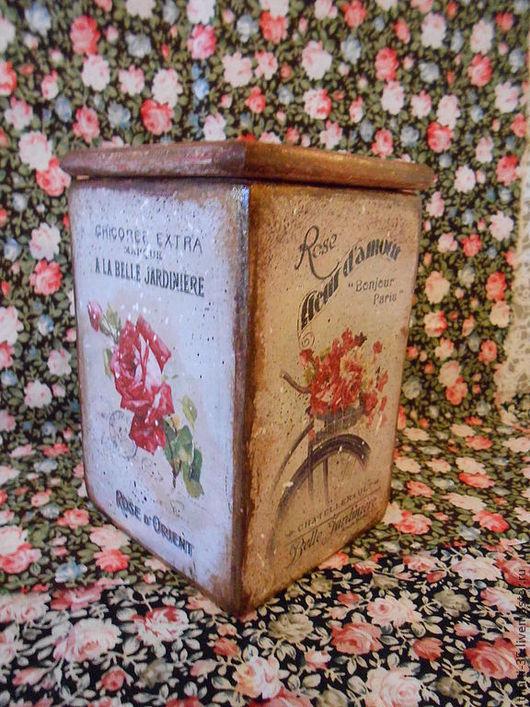 Кухня ручной работы. Ярмарка Мастеров - ручная работа. Купить Винтажная роза. Handmade. Коробочка для украшений, винтаж, кухонные принадлежности
