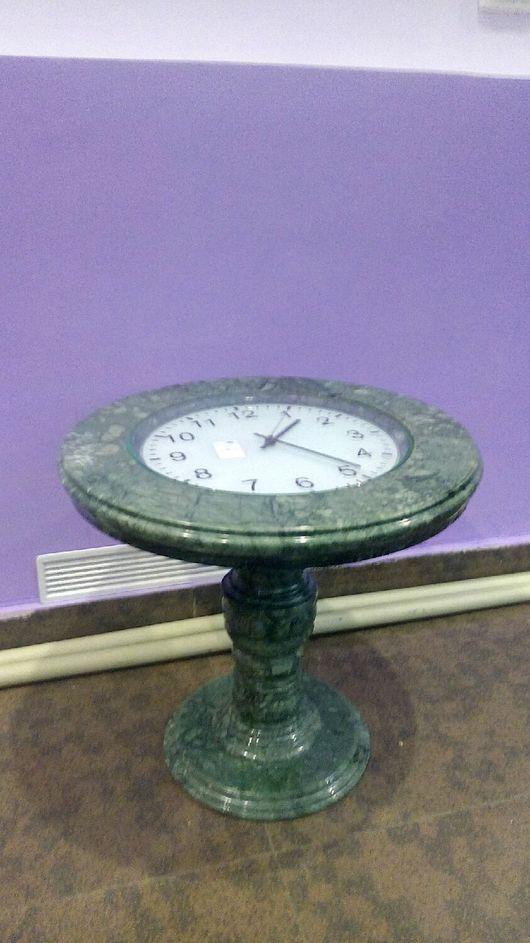 Мебель ручной работы. Ярмарка Мастеров - ручная работа. Купить Стол часы из мрамора. Handmade. Тёмно-зелёный, ручная работа