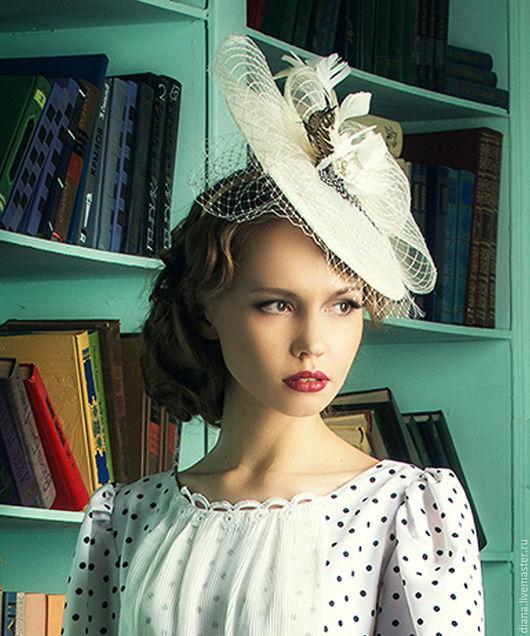 Шляпы ручной работы. Ярмарка Мастеров - ручная работа. Купить Роскошная шляпка.. Handmade. Бежевый, вуалетка свадебная, шляпка на свадьбу