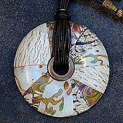 Украшения ручной работы. Ярмарка Мастеров - ручная работа кулон из полимерной глины  этно 10. Handmade.