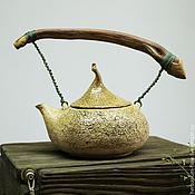 Посуда ручной работы. Ярмарка Мастеров - ручная работа древесный чайник. Handmade.