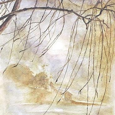 """Картины и панно ручной работы. Ярмарка Мастеров - ручная работа Акварель """" Китайский пейзаж """". Handmade."""