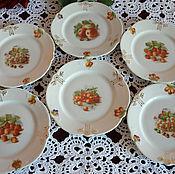 Винтаж ручной работы. Ярмарка Мастеров - ручная работа Десертные фруктовые тарелочки Schumann. Handmade.