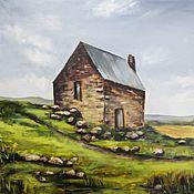 Картины и панно handmade. Livemaster - original item Oil painting House on a hill Landscape. Handmade.