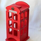 Для дома и интерьера ручной работы. Ярмарка Мастеров - ручная работа Чайный домик Red telephone box (три вида корон). Handmade.