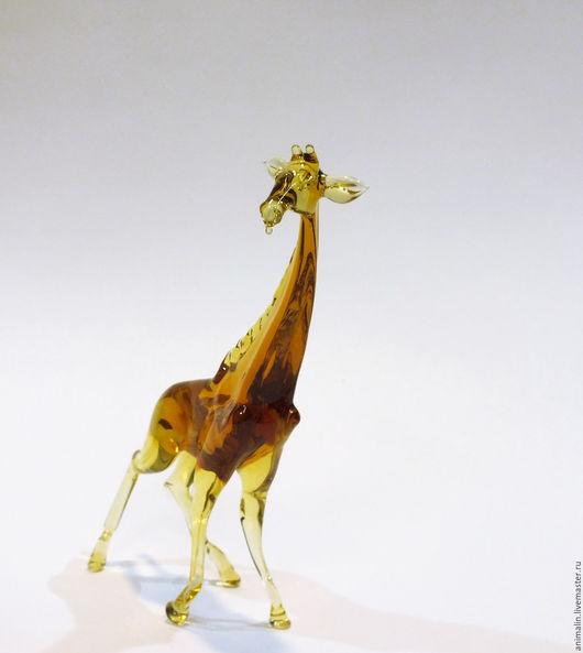 Статуэтки ручной работы. Ярмарка Мастеров - ручная работа. Купить Интерьерная скульптура из цветного стекла Жираф Камелопардалис. Handmade. Оранжевый