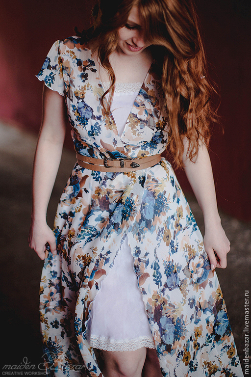 Платье мастер класс из шифона