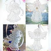 Работы для детей, handmade. Livemaster - original item Angel pendant for luck embroidered souvenir. Handmade.