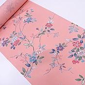 """Материалы для творчества handmade. Livemaster - original item Silk Japanese """"Flowers on the pink"""". Handmade."""