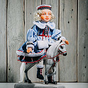 """Куклы и игрушки ручной работы. Ярмарка Мастеров - ручная работа """"Девочка с картинки"""" подвижная кукла. Handmade."""