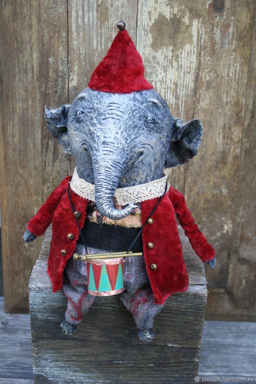 Слоник с барабаном, Мягкие игрушки, Тверь,  Фото №1