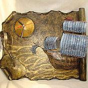 """Для дома и интерьера ручной работы. Ярмарка Мастеров - ручная работа Часы """"Солнечный остров"""". Handmade."""