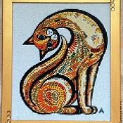 """Картины и панно ручной работы. Ярмарка Мастеров - ручная работа Алмазная живопись, вышивка стразами """"Кошка"""". Handmade."""