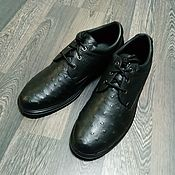Обувь ручной работы handmade. Livemaster - original item Shoes made of genuine ostrich leather, model for fall/spring!. Handmade.