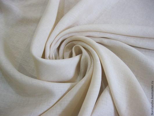 Шитье ручной работы. Ярмарка Мастеров - ручная работа. Купить Итальянский лен. 56113. Handmade. Кремовый, лен на платье, лен