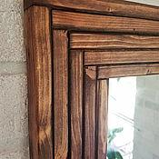 Для дома и интерьера ручной работы. Ярмарка Мастеров - ручная работа Зеркало  в стиле рустик / лофт из реек. Handmade.