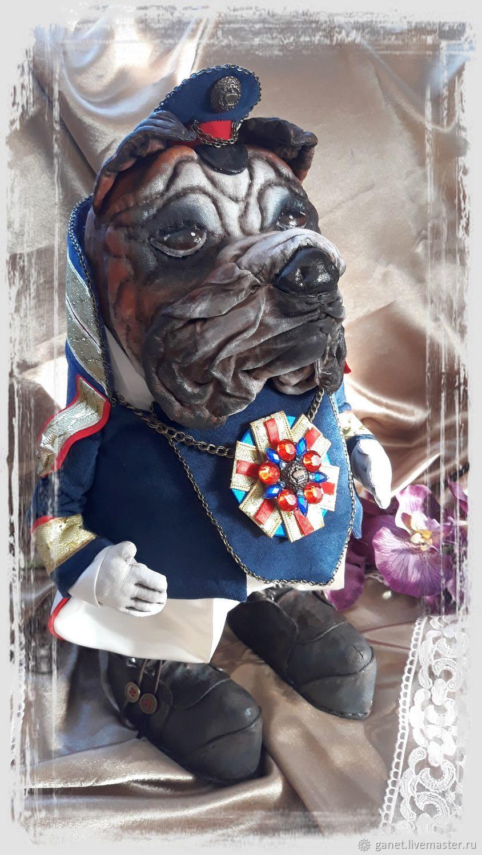 Бульдог- начальник полиции, Портретная кукла, Боковская,  Фото №1