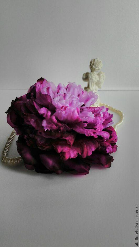 """Цветы ручной работы. Ярмарка Мастеров - ручная работа. Купить Пион """"Эффи"""".. Handmade. Розовый, богемный стиль, аксессуары для фотосессий"""