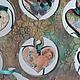 Статуэтки ручной работы. Подставка для украшений Настроение. Елена Рогачева (sirenya). Ярмарка Мастеров. Статуэтка, сердечко декупаж, краски масляные