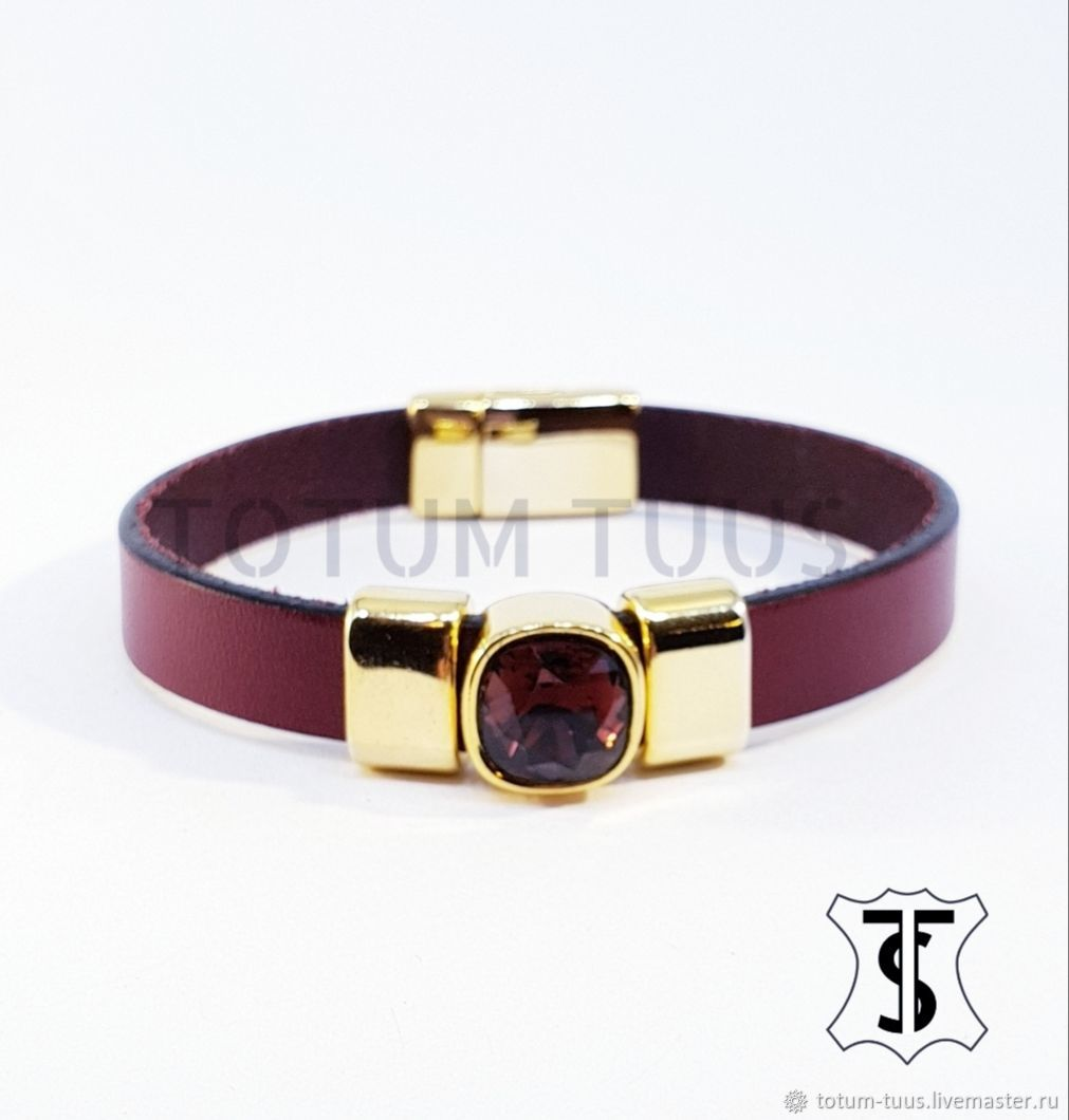 Stylish leather bracelet Art:18000188, Bead bracelet, Prague,  Фото №1