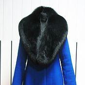 Пальто ручной работы. Ярмарка Мастеров - ручная работа Зимнее пальто с меховым воротником. Handmade.