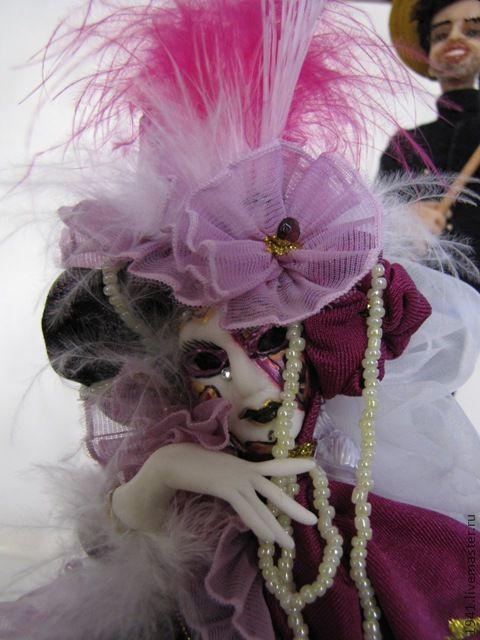 Миниатюра ручной работы. Ярмарка Мастеров - ручная работа. Купить Венецианская маска. Handmade. Авторская кукла, путешествия, интерьерная композиция
