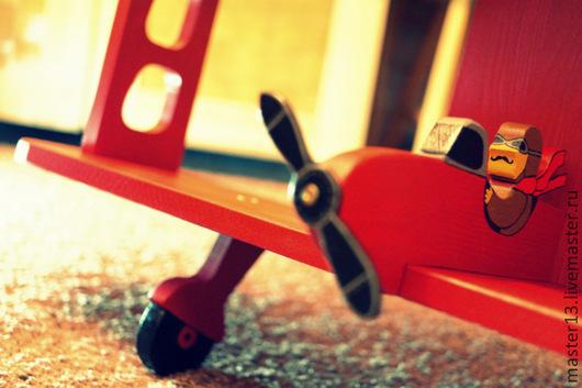 """Детская ручной работы. Ярмарка Мастеров - ручная работа. Купить Полочка для детской комнаты """"Самолёт - 4"""". Handmade. Полка, самолет"""