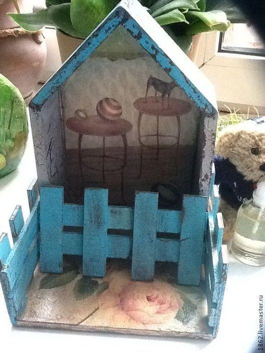 Мини-комоды ручной работы. Ярмарка Мастеров - ручная работа. Купить Кукольный Дом.. Handmade. Бирюзовый, собачка
