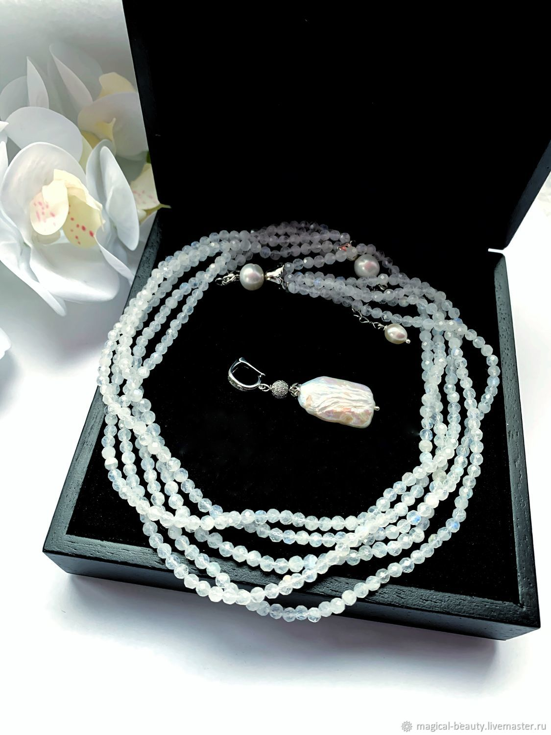 Necklace with natural adular, Necklace, Moscow,  Фото №1