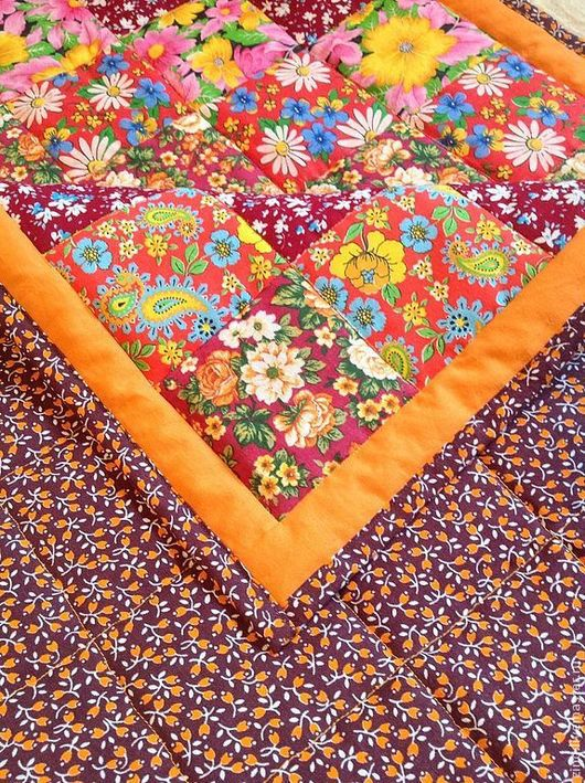 """Детская ручной работы. Ярмарка Мастеров - ручная работа. Купить Одеяло """"Цветочная поляна"""". Handmade. Одеяло, подарок"""