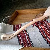 Посуда ручной работы. Ярмарка Мастеров - ручная работа Ложка отцовская деревянная резная. Handmade.