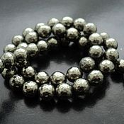 Материалы для творчества handmade. Livemaster - original item Pyrite faceted beads beads 9mm. Handmade.