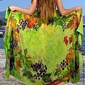 Одежда handmade. Livemaster - original item Silk pareo batik Grapes. Handmade.