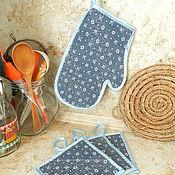 Для дома и интерьера ручной работы. Ярмарка Мастеров - ручная работа Прихватки для кухни набор. Handmade.