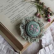 Украшения handmade. Livemaster - original item When Roses bloom... Brooch embroidered.. Handmade.