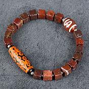 Украшения handmade. Livemaster - original item Red Jasper bracelet, JI 21 eye, JI Money hook. Handmade.