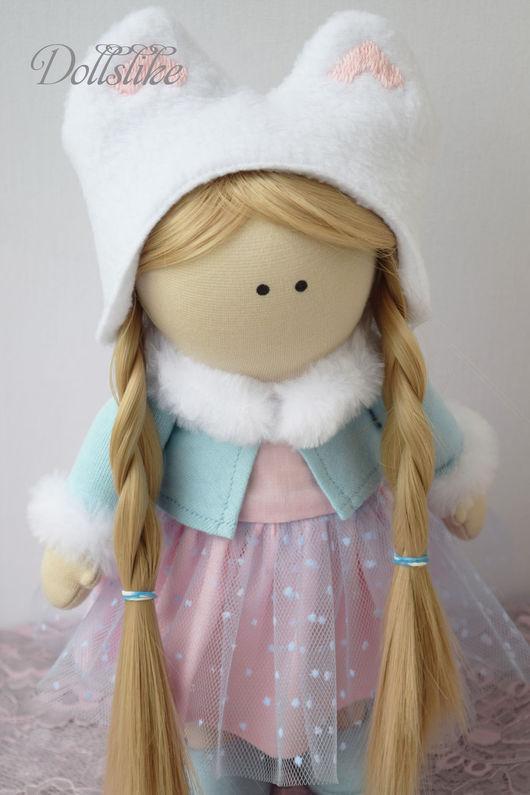 Куклы тыквоголовки ручной работы. Ярмарка Мастеров - ручная работа. Купить Интерьерная кукла. Handmade. Голубой, подарок на любой случай