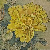 Картины и панно handmade. Livemaster - original item Painting watercolor yellow flowers Peonies. Handmade.