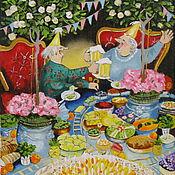 Картины и панно ручной работы. Ярмарка Мастеров - ручная работа Картина маслом  2 День рождения,или сто лет- то не возраст.... Handmade.