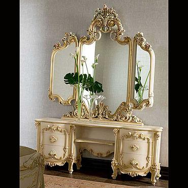 Для дома и интерьера ручной работы. Ярмарка Мастеров - ручная работа Зеркало настольное из бука (№037). Handmade.