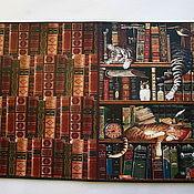 Канцелярские товары handmade. Livemaster - original item Passport cover Cats on the shelf. Handmade.