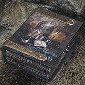 """Для дома и интерьера ручной работы. Ярмарка Мастеров - ручная работа Шкатулка -фолиант """"Книга заклинаний"""". Handmade."""