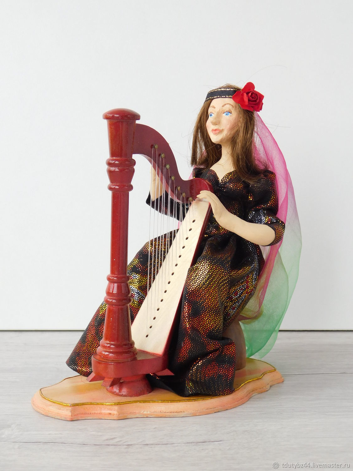 Author's doll HARPIST, Portrait Doll, Moscow,  Фото №1