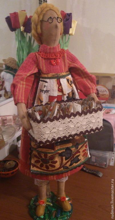 Куклы Тильды ручной работы. Ярмарка Мастеров - ручная работа. Купить Тильда - чайница. Handmade. Бежевый, чайница, синтепух, бамбук