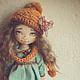 Коллекционные куклы ручной работы. Ярмарка Мастеров - ручная работа. Купить Настенька. Handmade. Тёмно-бирюзовый, коллекционная кукла