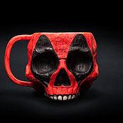 handmade. Livemaster - original item Mug Deadpool (Deadpool) Ceramic mug for tea and coffee. Handmade.